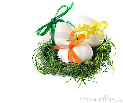 easter eggs in a basket pictures. EASTER EGGS IN GRASS BASKET