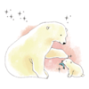 Hao Nguyen - Polar Bear Watercolor Sticker artwork