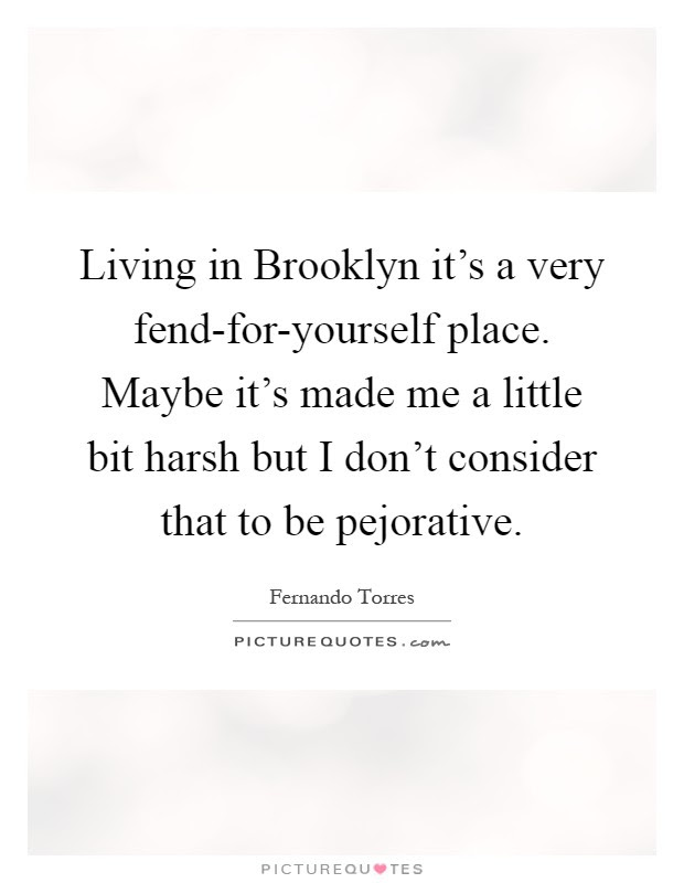 Living In Brooklyn Its A Very Fend For Yourself Place Maybe