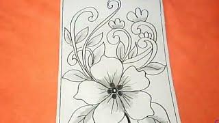 Contoh Gambar Batik Bunga Simple