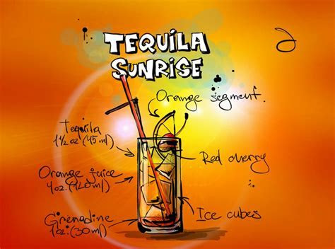Free illustration: Tequila Sunrise, Cocktail, Drink   Free