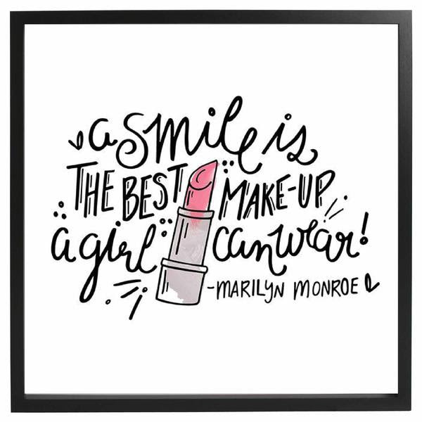Smile Is The Best Make Up Framed Quote The Chic Pad