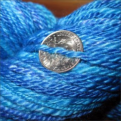 Ocean Merino-Silk yarn, close up