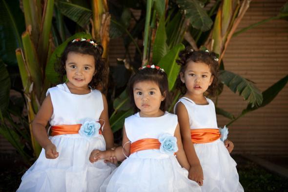 Nossos doces meninas da flor! : Casamento flor de laranjeira menina vestidos de casamento Elena Luis 150