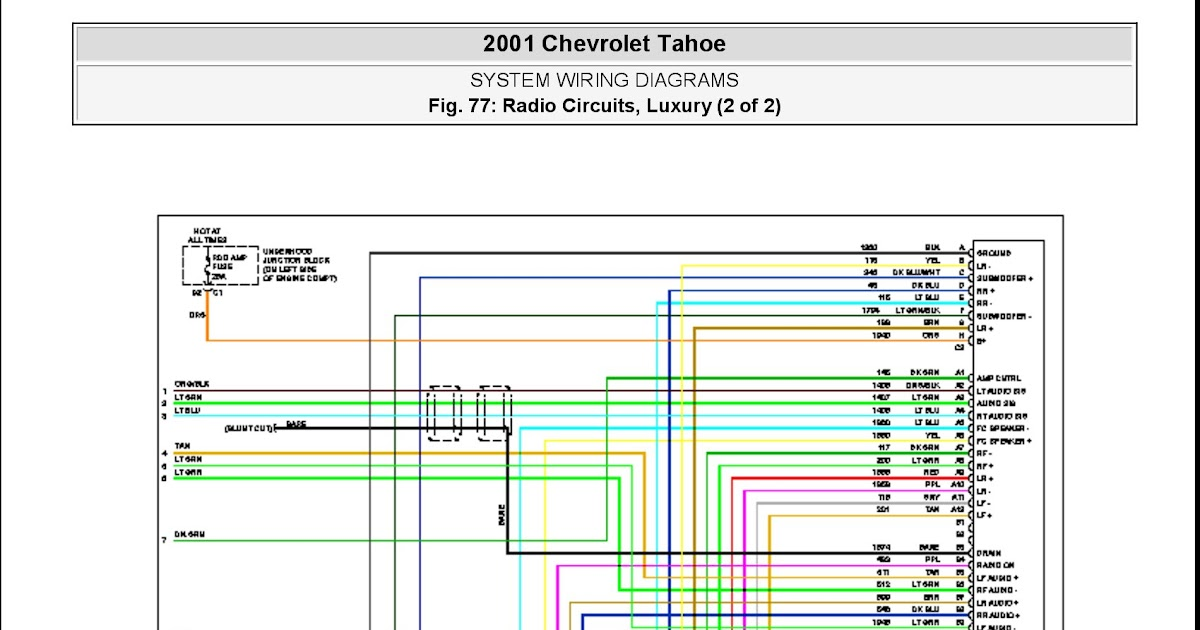 2001 Chevy Tahoe Stereo Wiring Diagram