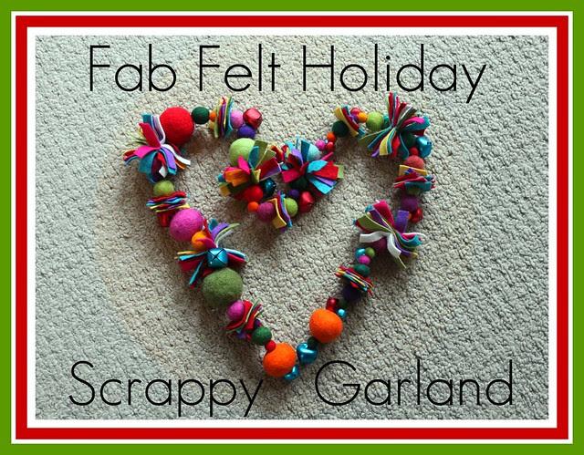 Scrappy Christmas Garland