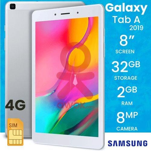 """Samsung Galaxy Tab A 2019 8.0"""", QUAD 2 Ghz 2GB / 32Go LTE - Silver"""