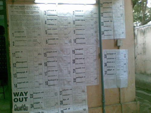 Central Madras, Ward 76, Polling booth