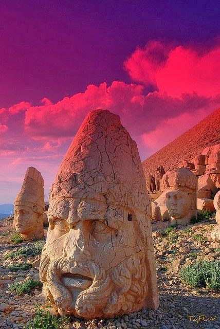 Mountain of the Gods - Mount Nermut, Turkey.