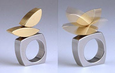More kinetic jewellery of Michael Berger.