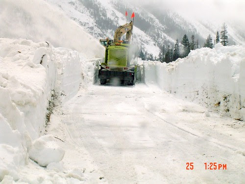 Excavating for the blower by WSDOT