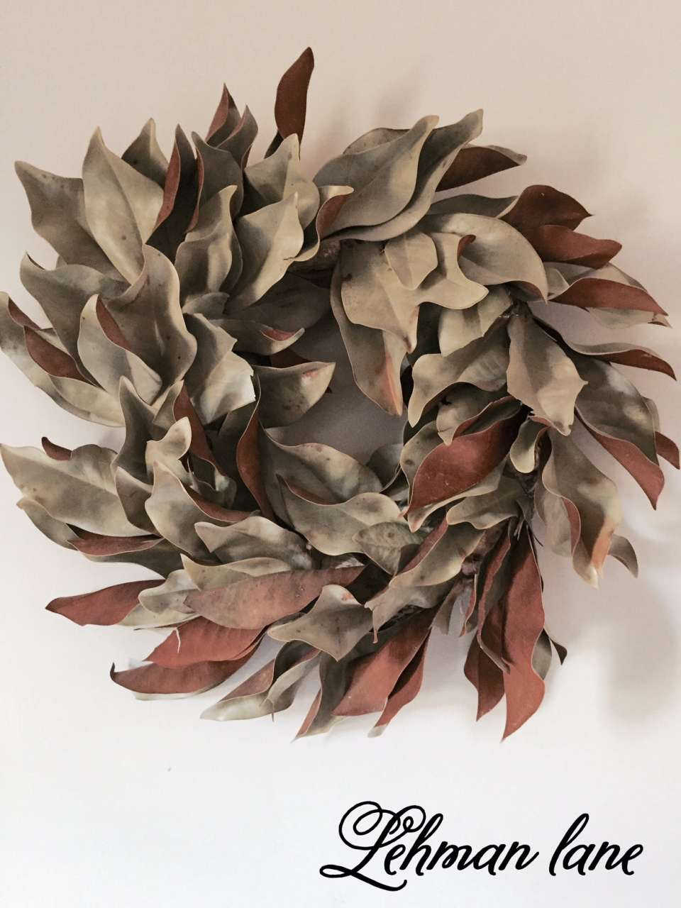 Diy How To Make A Wreath Using Dried Magnolia Or Fresh Magnolia