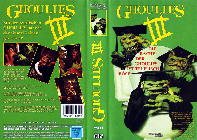 Ghoulies 3 (VHS Box Art)