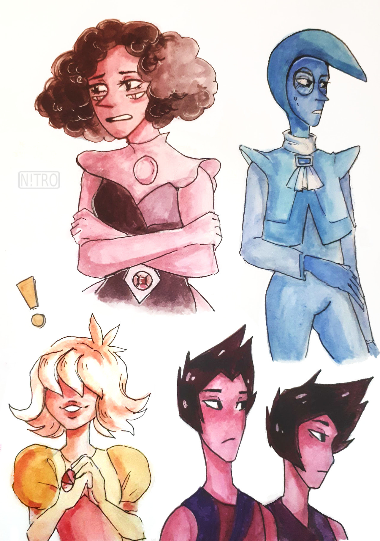 I love them all so much!!! They're adorable and Zircon is now one of my favourite characters in SU ever, I HOPE WE'LL SEE HER AGAIN, I'LL PRAY FOR HER (actually I wanted to draw her with hair but I...