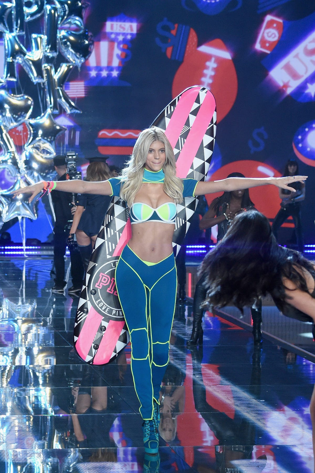 Devon Windsor helped celebrate PINK, Victoria's Secret's younger sister brand.