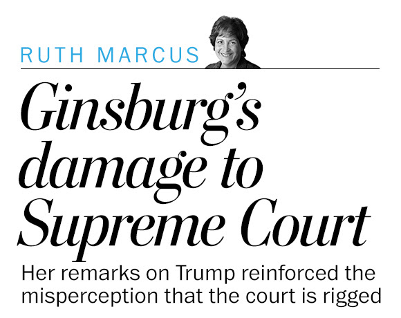 Justice Ginsburg's damage to the Supreme Court