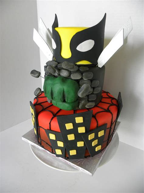 spiderman, hulk, wolverine   Fun Stuff   Cake, Superhero