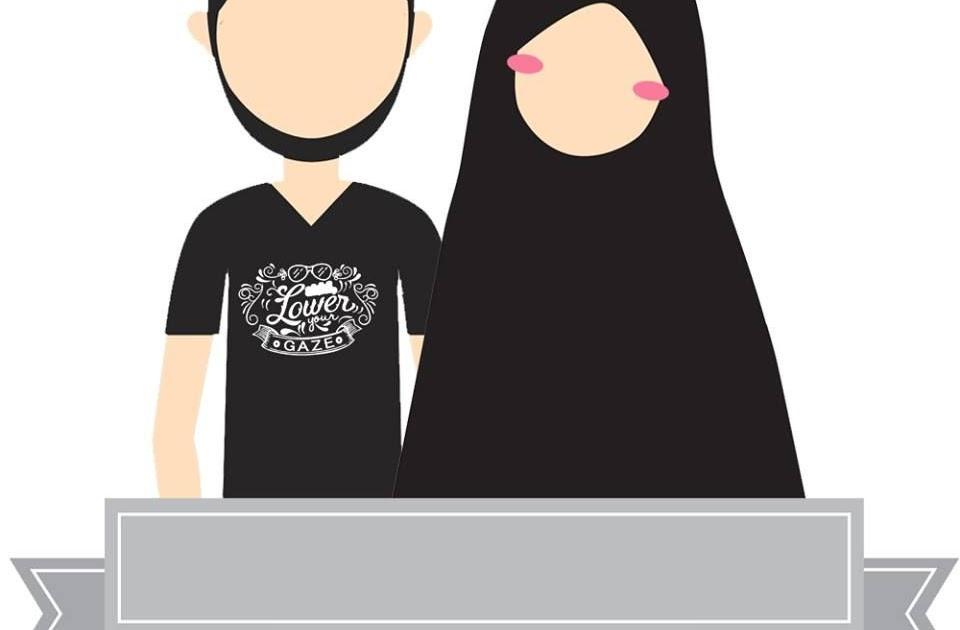 Gambar Kartun Muslim Dan Muslimah Couple