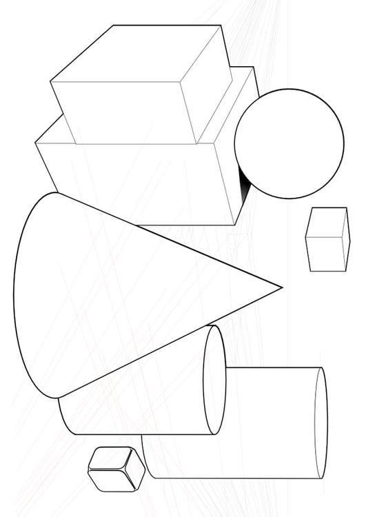 ausmalbild geometrische formen  ausmalbilder