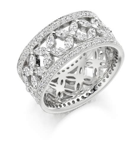 Round Brilliant & Marquise Cut Wedding / Eternity Diamond Ring
