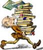 Чел с книгами