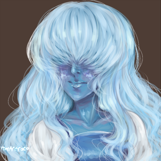 just a sapphire doodle, i wanted to play with paint.