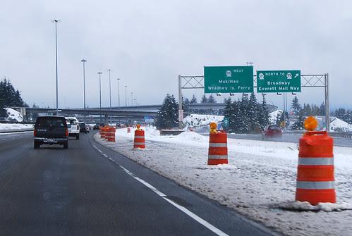 I-5 @ SR 526 & SR 527 & SR 99 north terminus