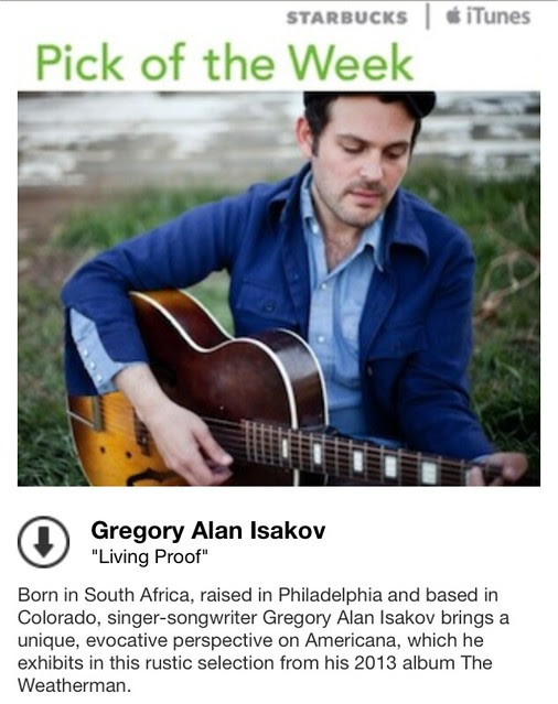 Starbucks iTunes Pick of the Week - Gregory Alan Isakov - Living Proof