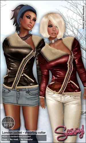 London shearling jacket @ Winter Fair