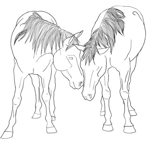 realistic horse coloring pages coloring pages  kids