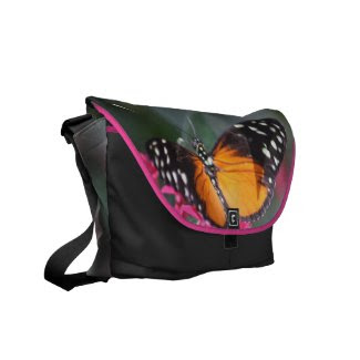 Black and Orange Spotted Butterfly 2 Commuter Bag