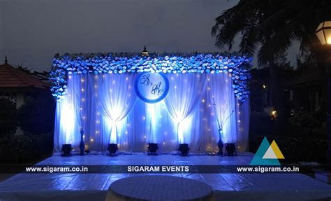 Outdoor Wedding Stage Decoration at RKN Beach Resort