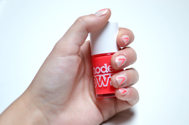 nails of today models own pink punch neon nail polish nail art design fashion blogger turn it inside out belgium