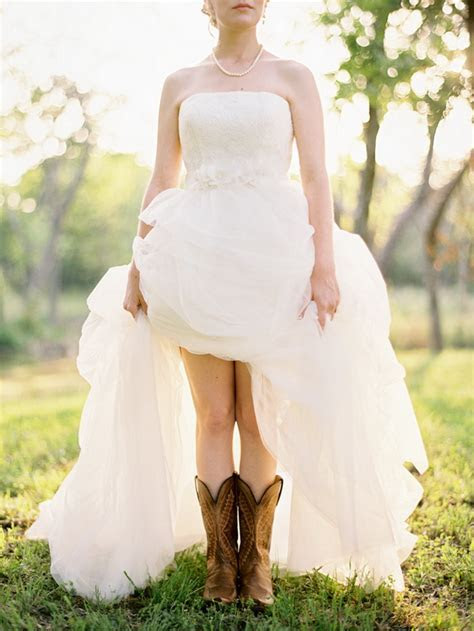 wedding dresses with boots   Tulle & Chantilly Wedding Blog