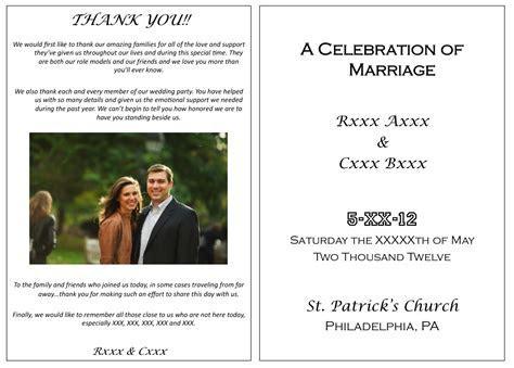 wedding something: Ceremony programs (for dummies)