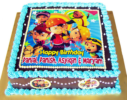 Birthday Cake Edible Image Boboiboy