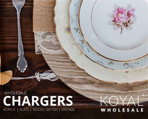 Wholesale wedding charger plates for table settings, bulk