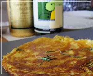 リグーリアの郷土料理「ファリナータ」。カリッもちもち食感で美味しい。