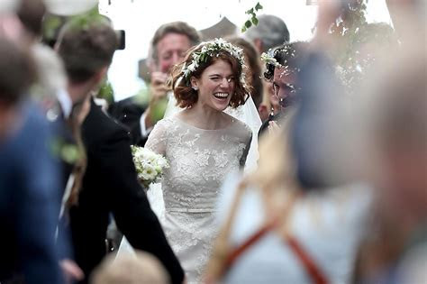 Rose Leslie wears vintage style Elie Saab dress for