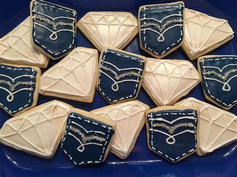 Denim and diamonds cookies   food and drinks   Pinterest