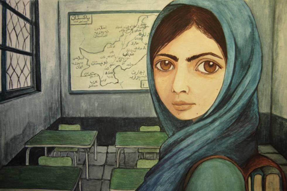 Malala vista por la ilustradora Isabel Ruiz.