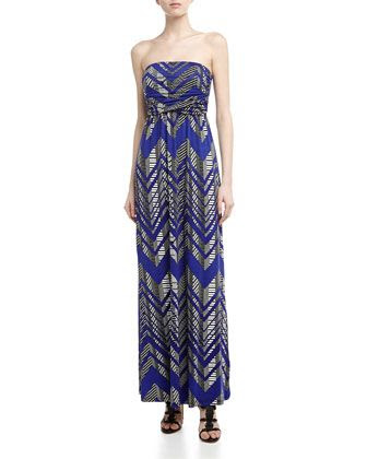 Wilster Zigzag Stripe Maxi Dress