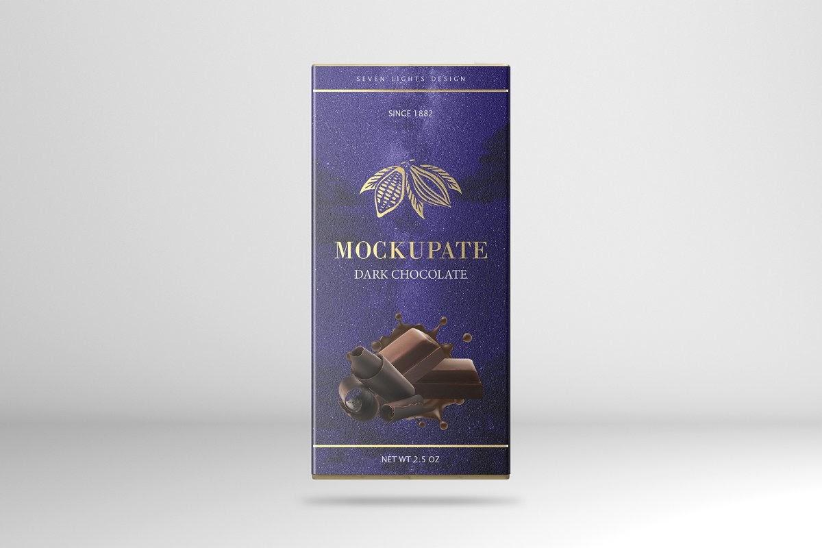 Download Download Chocolate Bar Box Mockup PSD - Chocolate Bar ...