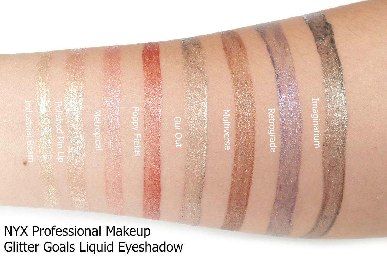 Nyx professional makeup glitter goals liquid eyeshadow