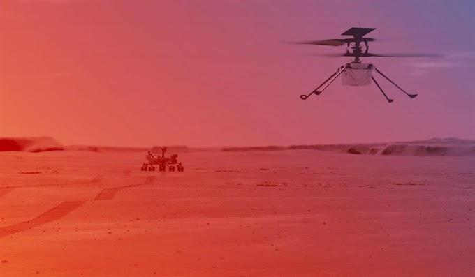 LA NASA PREVÉ QUE EL HELICÓPTERO INGENUITY HARÁ EN ABRIL SU PRIMER VUELO EN MARTE