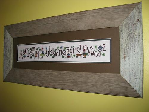 Gnome Alphabet Sampler Framed
