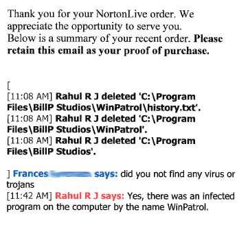 Norton says that WinPatrol is a virus