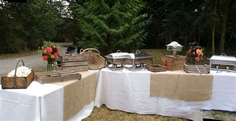 #Rustic #buffet station by #WhidbeyPartyGirls events on