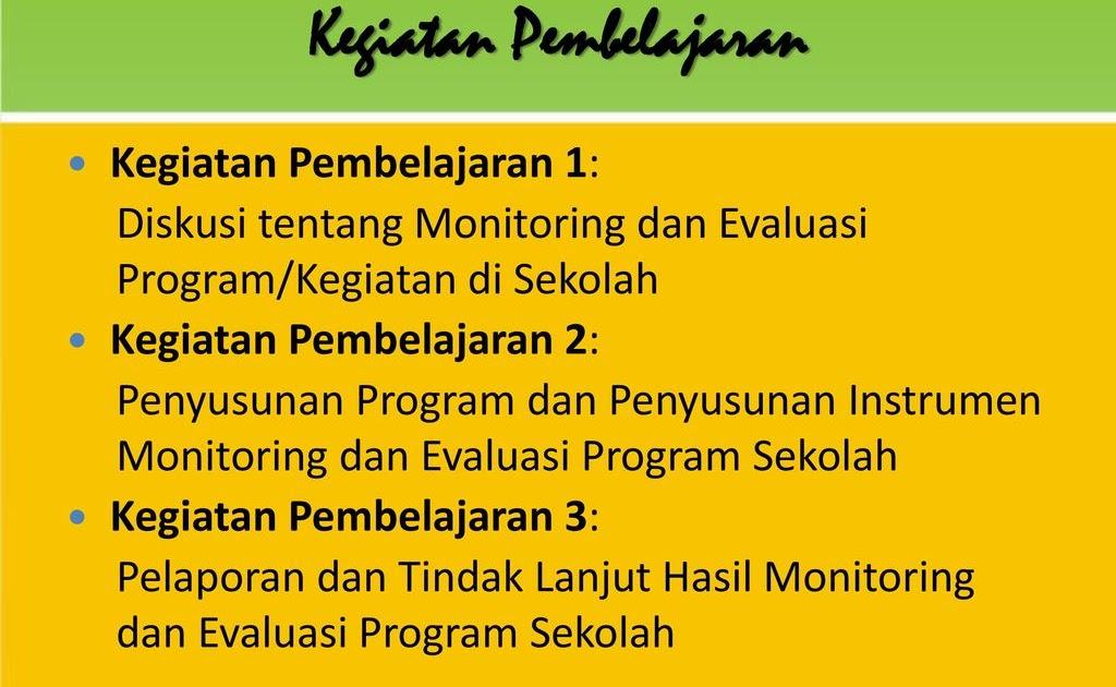 Contoh Format Laporan Kegiatan Monitoring Dan Evaluasi Seputar Laporan