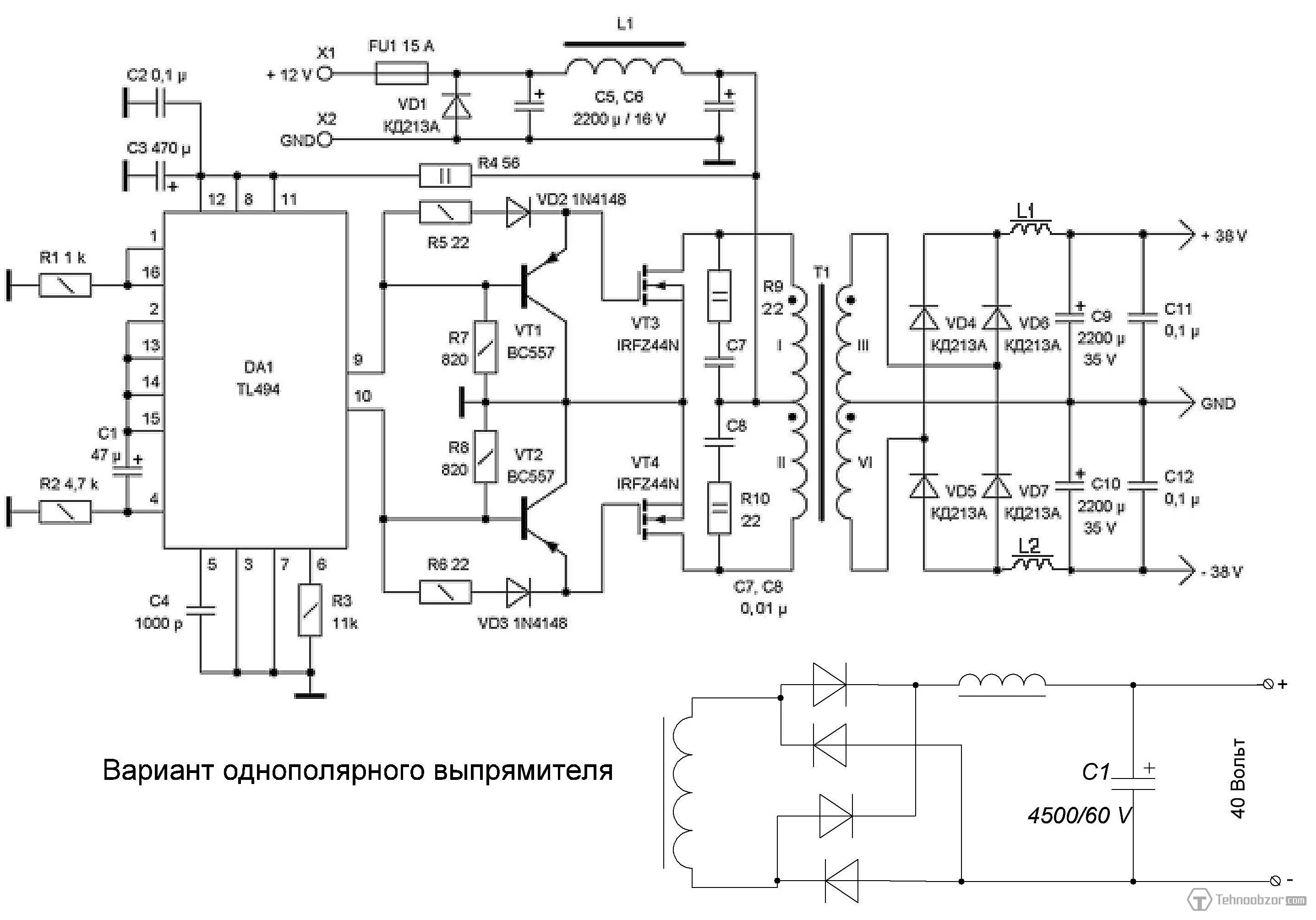 1000w Solar Inverter Circuit Diagram